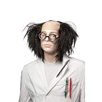 Ptit Clown - Peluca modelo Científico loco – Color negro