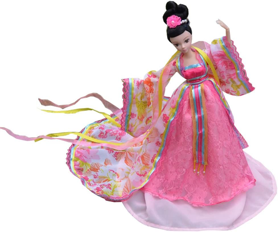 """Red Rose Ancient Beauty Costume Clothes For 11.5/"""" Dolls Dress Outfits Kids Toy"""