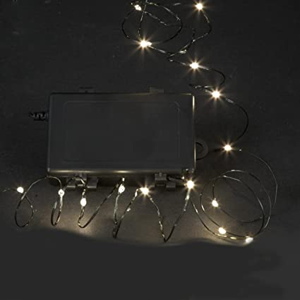 set of 18 battery operated clear led multi function ultra slim christmas lights green wire
