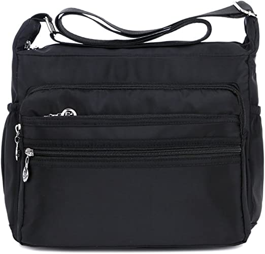 Women's Multi Pocket Casual Crossbody Handbags Waterproof Shoulder Nylon Bags