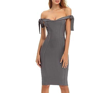 Amazon.com: Cheryl Bull - Vestido para mujer, color gris ...