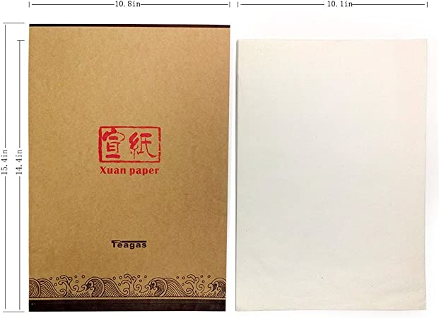 Healifty 150 Sheets Chinese Calligraphy Paper Grid Paper Xuan Rice Paper for Chinese Calligraphy Brush Ink Lover Beginner Writing Sumi Set