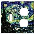 Van Gogh: Starry Night Metal Wall Plate