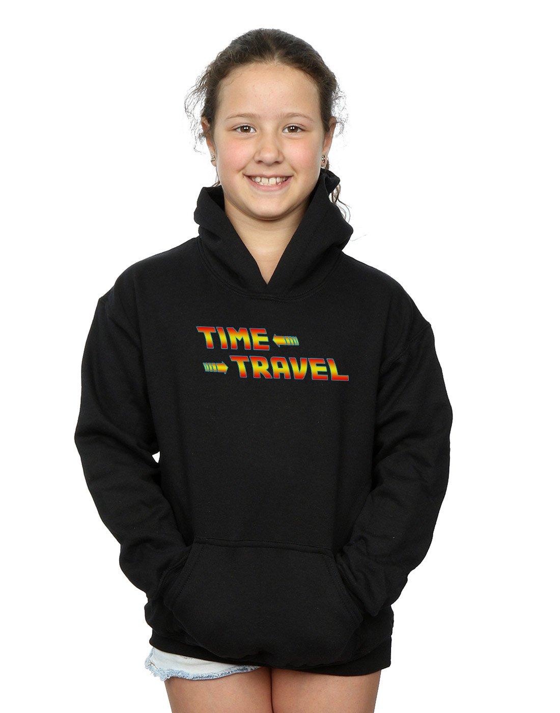 Drewbacca Girls Future Travel Hoodie Black 5-6 Years