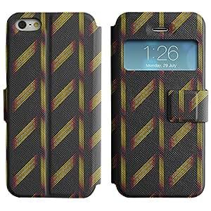 LEOCASE líneas lindo Funda Carcasa Cuero Tapa Case Para Apple iPhone 5 / 5S No.1005689