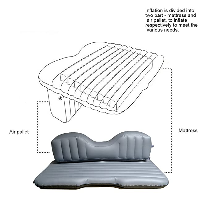 Amazon.com: Hooke Road Car Travel Inflatable Mattress ...