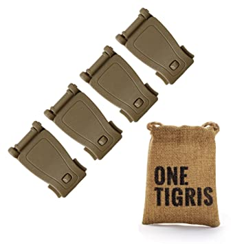 OneTigris Paquete de 4 clips de conexión para mochilas tácticas Molle, canela: Amazon.es: Deportes y aire libre