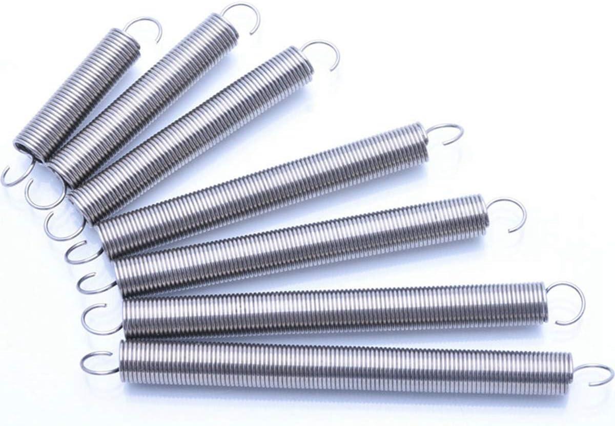 100 mm Zugschraubenfeder Edelstahl Zugfeder Drahtdurchmesser 0,6 mm Au/ßendurchmesser 6 mm 5 St/ück