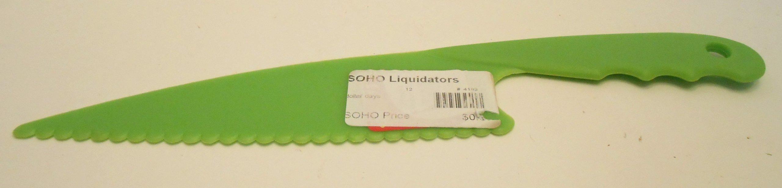 Green Plastic Kitchen Tool Chopping Knife 11''