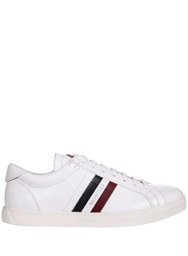 Moncler Herren 1017400019MW001 Weiss Leder Leder Weiss Sneakers 1835e3
