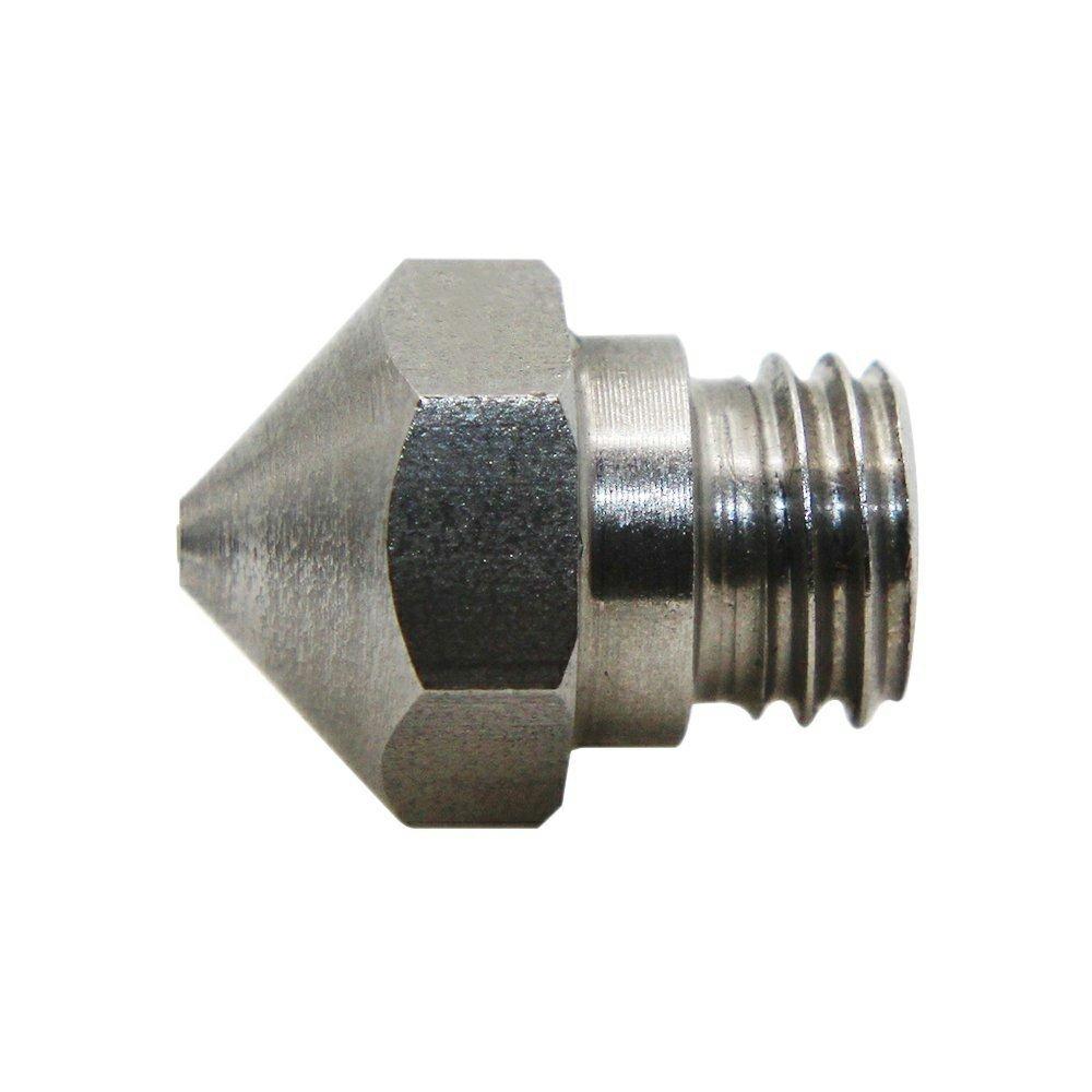 MK10/Edelstahl Extruder nozzle-m7/0,4/mm Upgrade Verschlei/ßfest Gewinde Gewinde 3D Print Kopf f/ür MakerBot 1,75/mm ABS PLA Drucker Filament Pack von 5/x