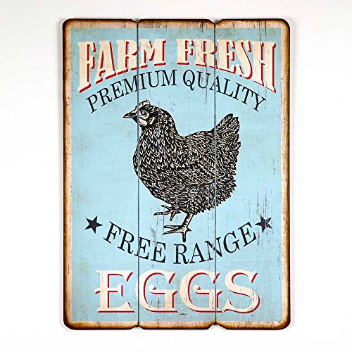 Vintage Style Country Kitchen FarmHouse Chicken Wood Sign