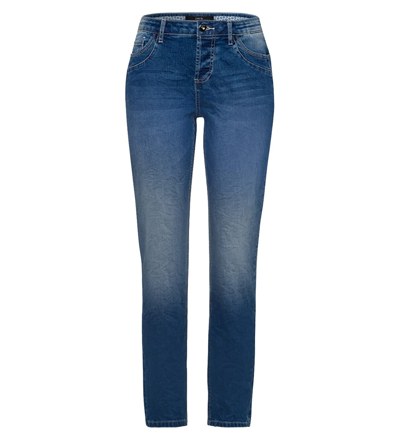 zero Damen Jeans im Washed-out-Style 30 Inch 402677