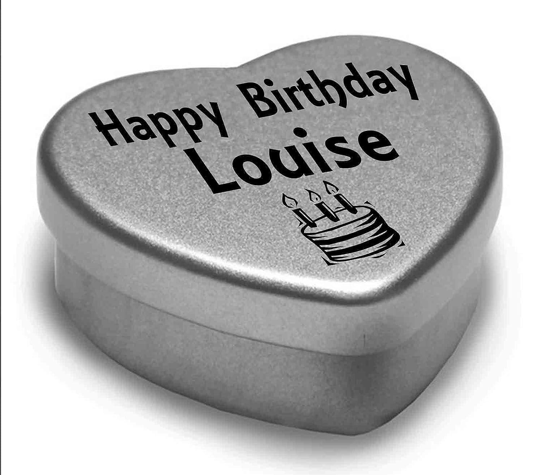 Happy Birthday Lyla Mini Heart Tin Gift Present For Lyla WIth Chocolates