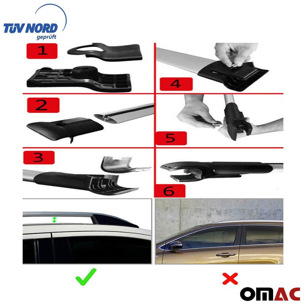 OMAC GmbH Dachtr/äger Relingtr/äger f/ür Vivaro 2001-2014 Aluminium Schwarz mit T/ÜV ABE