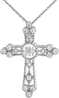 Jesus Cross Pendant on Sale Gift For Her 925 Sterling Silver Pave Diamond Pendant Religious Pendant Christmas Gift Handmade Jewelry