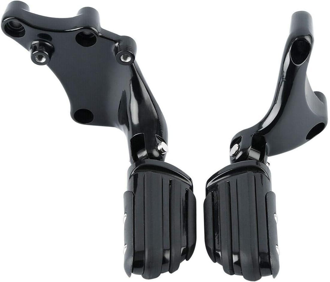 TCMT Black Rear Footpeg Pilot Peg Mount Fit For Harley Sportster 883 1200 Roadster 14-19