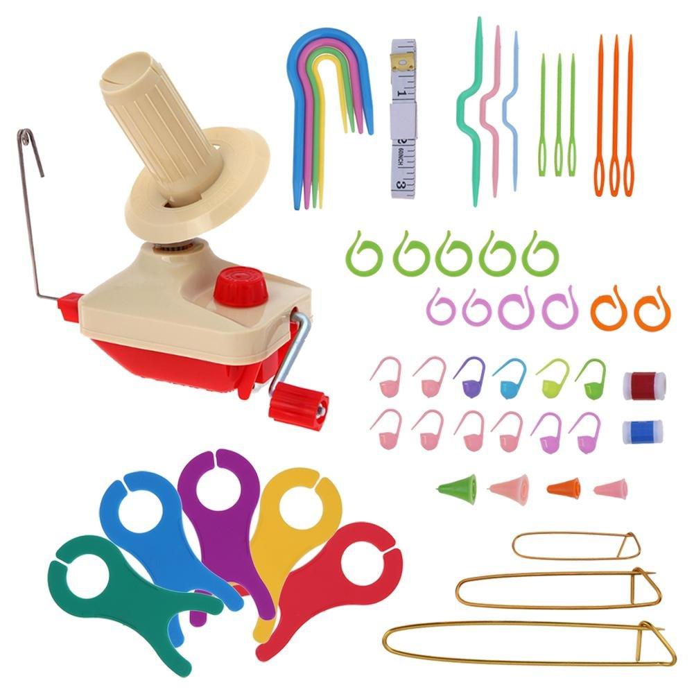 Whitelotous Portable Manual Winding Machine Household DIY Knitting Tool Kit for Wool Winder Yarn Fiber String