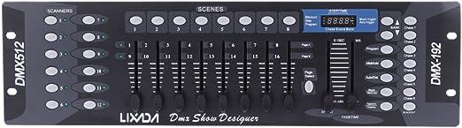 Ritioner Versión Mejorada Lixada 192 Canales DMX512 Controlador de ...