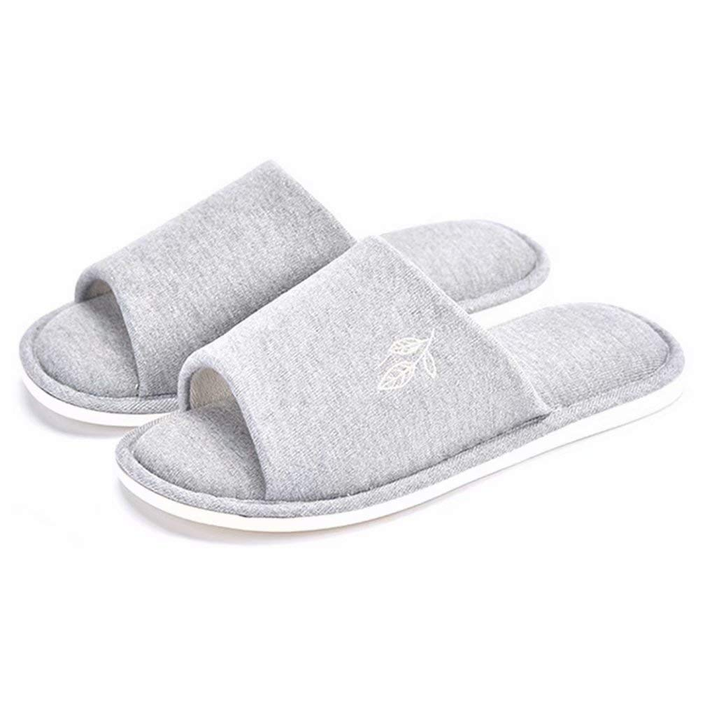 Womens Soft Indoor Slippers Open Toe Cotton Memory Foam Slip on Shoes for Home Use