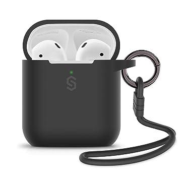 Syncwire Estuche para AirPods, Silicona AirPods 1/AirPods 2 Estuche con Llavero/Correa/Bolsa de Almacenamiento Suave para Apple AirPods [Admite Carga ...