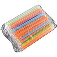 100 stks / set Kleurrijke Grote Rietjes Voor Bubble Smoothie Milkshake Party Smoothies Bar Accessoires multicolor