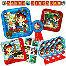 Disney Junior Jake and the Neverland Pirates Party Supplies Set - Birthday Party Decorations, Party Favors, Plates, Napkins and More!