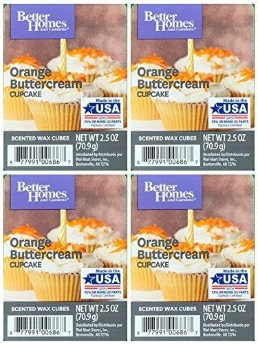 Better Homes and Gardens Orange Buttercream Cupcake Wax Cubes - - Cupcake Garden