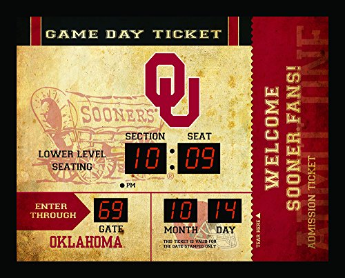 Collegiate Team Sports Scoreboard (Team Sports America NCAA Bluetooth Scoreboard Wall Clock, Oklahoma Sooners)