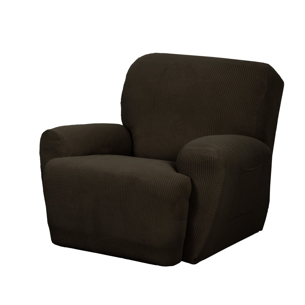 Amazon.com: Maytex Stretch Reeves 4 Piece Recliner Slipcover, Chocolate:  Home U0026 Kitchen