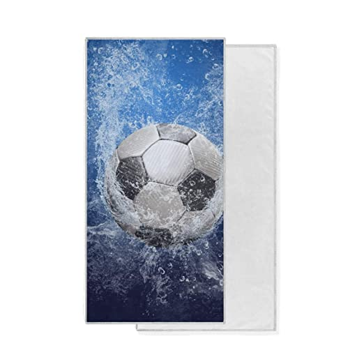XiangHeFu Baño Toalla de Mano Ducha Agua Alrededor Balón de fútbol ...