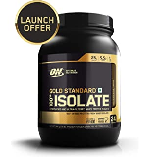 50b2b9ba1 Optimum Nutrition (ON) Gold Standard 100% Isolate Whey Protein Powder - 1.6  lb