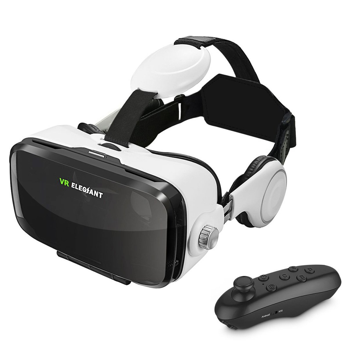 ELEGIANT VR Headset, 3D VR Glasses, Virtual Reality Headset Built-in Headphone