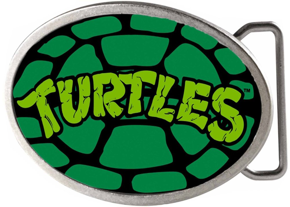 TMNT Cartoon TV Series Turtle Shell Rockstar Belt Buckle Buckle Down