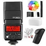 Godox TT350F GN36 TTL HSS 1/8000s Blitzgeräte Kamera Blitzlicht mit für Fuji Cameras X-Pro2 X-T20 X-T2 X-T1 X-Pro1 X-T10 X-E1 X-A3 X100F X100T mit Farbfilter/Pergear Reinigung Set