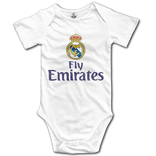 3f9a5e866 Real Madrid C.F Football Logo Fly Emirates Baby Girls Baby Onesies Outfits