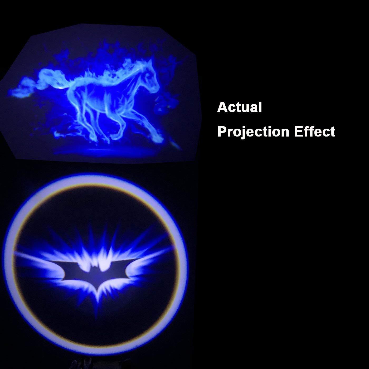 Blaulicht f/ürs Auto 12V Wireless LED Laser Projektor Universal f/ür Ambientebeleuchtung T/ürbeleuchtung Einstiegsleuchte Projektion Licht 2er-Pack