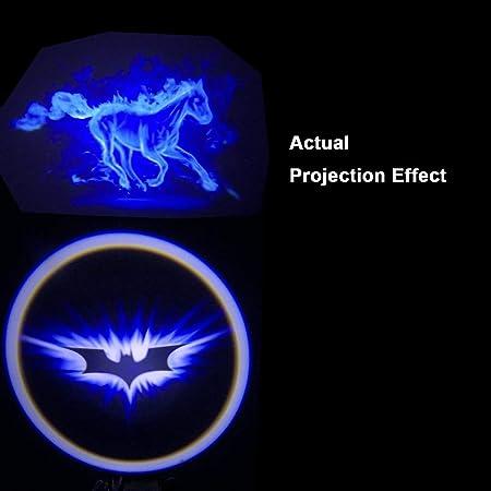 Motoeye - Proyector LED para puerta de coche, diseño de Batman ...