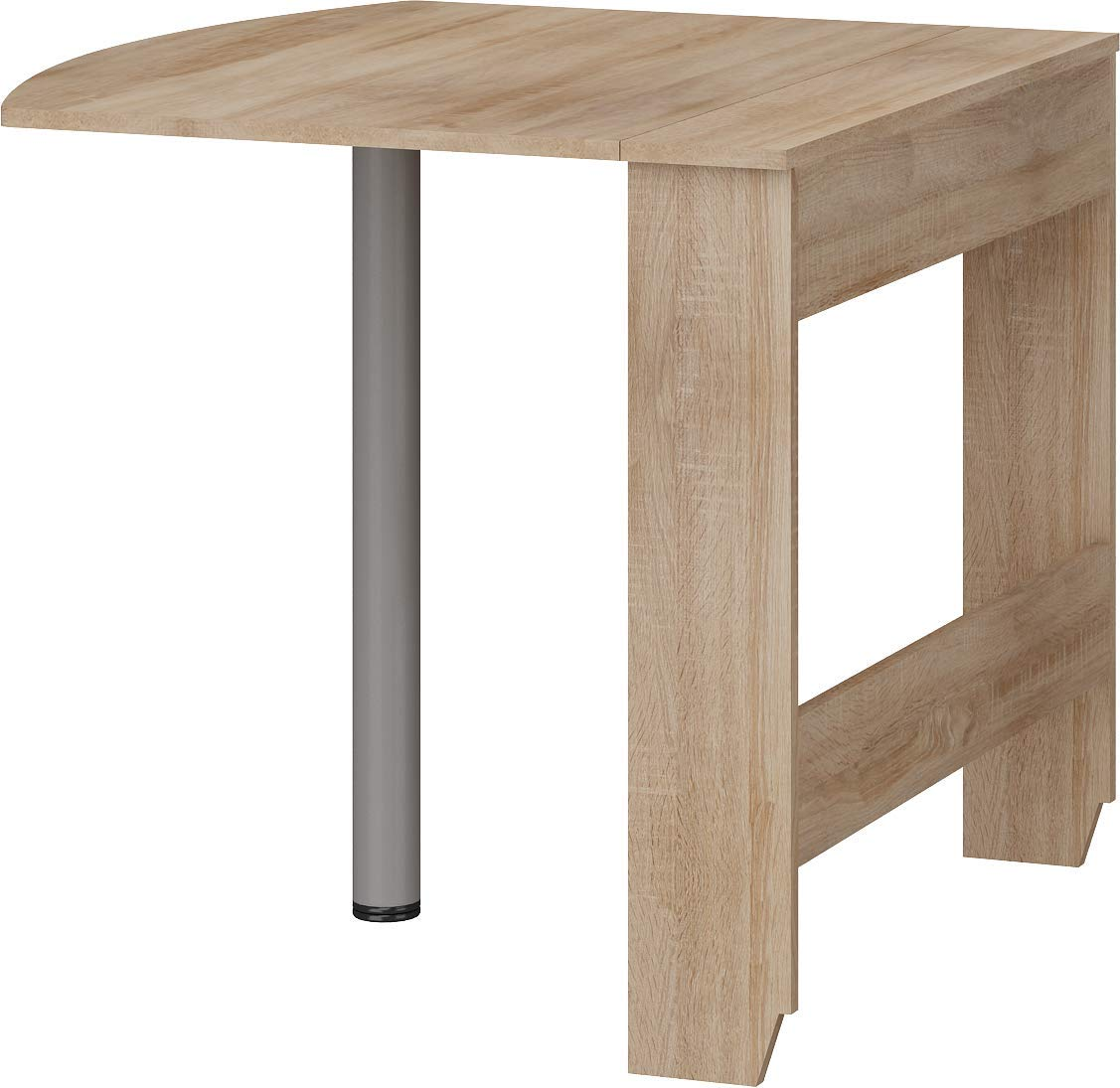 Furniture.Agency Expert A Compact Drop Leaf Dining Table Smart Solutions for Small Spaces Sonoma Oak by Furniture.Agency