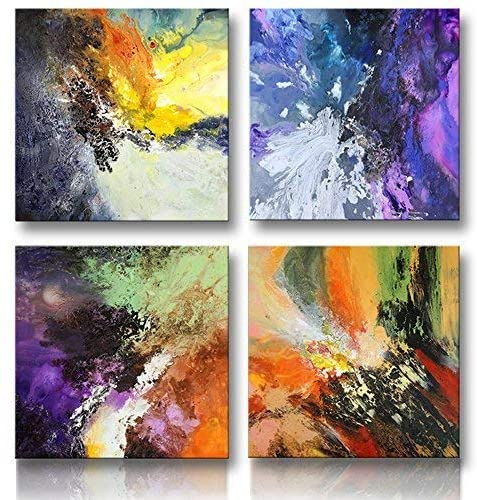 Canvas Painted Abstract Wall Art Oil Painting Print Picture Room Decor Modern