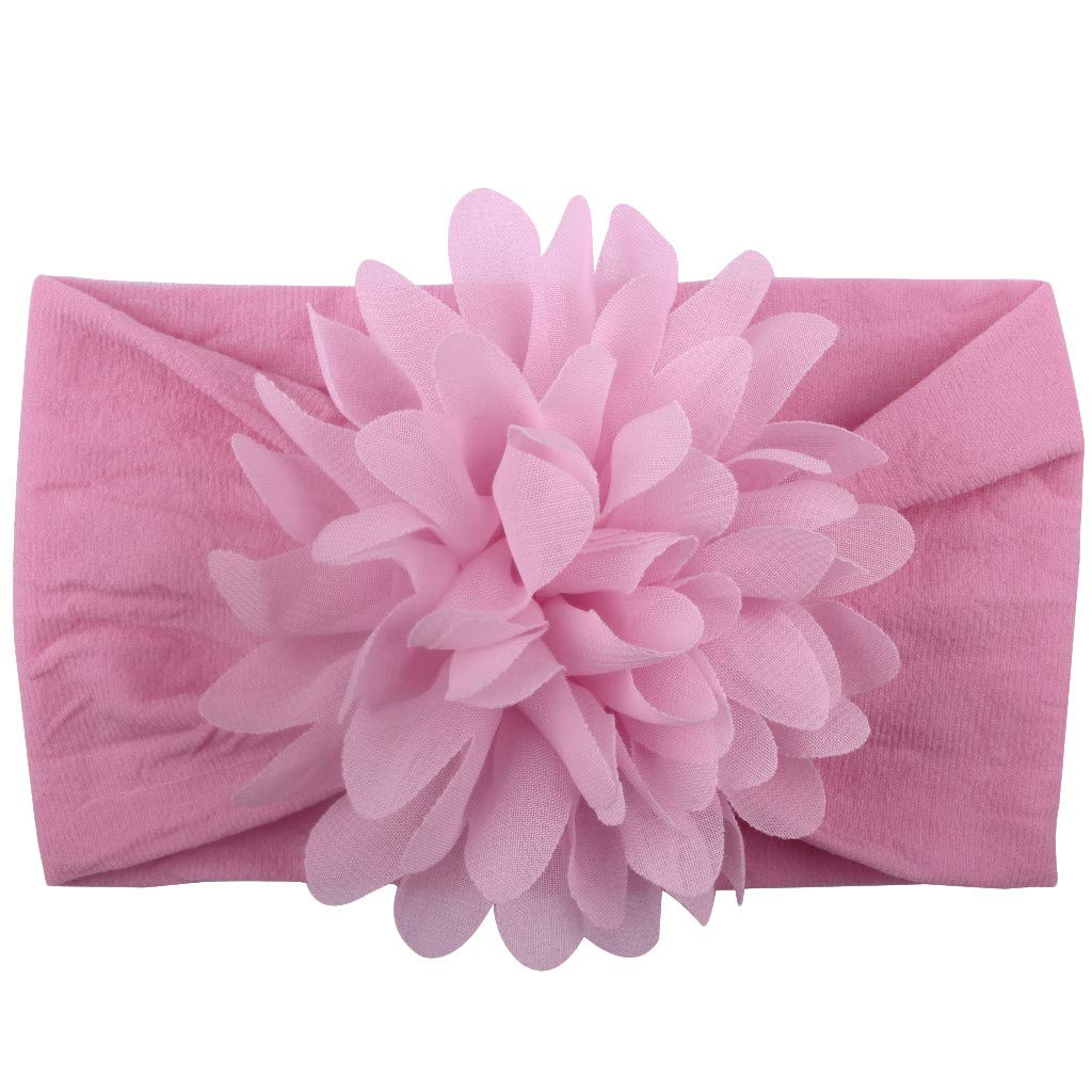 NUWFOR Girls Baby Toddler Princess Floral Headband Hair Band Accessories Headwear D