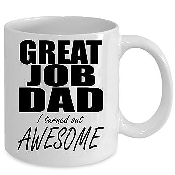 Amazon.com: Gran trabajo Papá I resultó impresionante taza ...