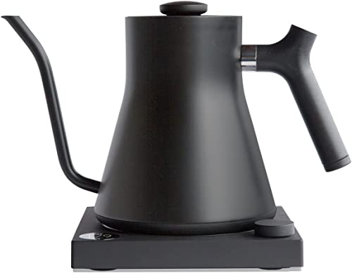 Fellow Stagg EKG, Electric Pour-over Kettle For Coffee And Tea, Matte Black, Variable Temperature Control, 1200 Watt Quick Heating, Built-in Brew Stopwatch
