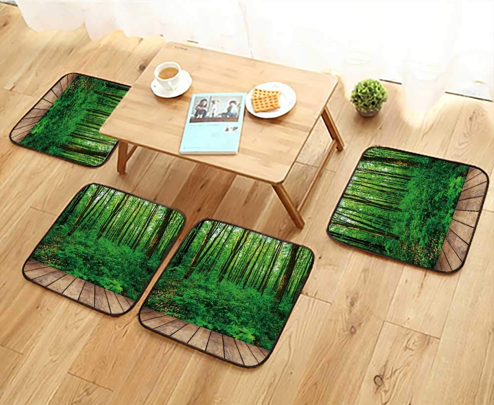 Jiahonghome フィレットチェア クッションデザイン ボケブルーベクター背景 コピースペース付き 椅子用 幅13.5×長さ13.5/4点セット W13.5