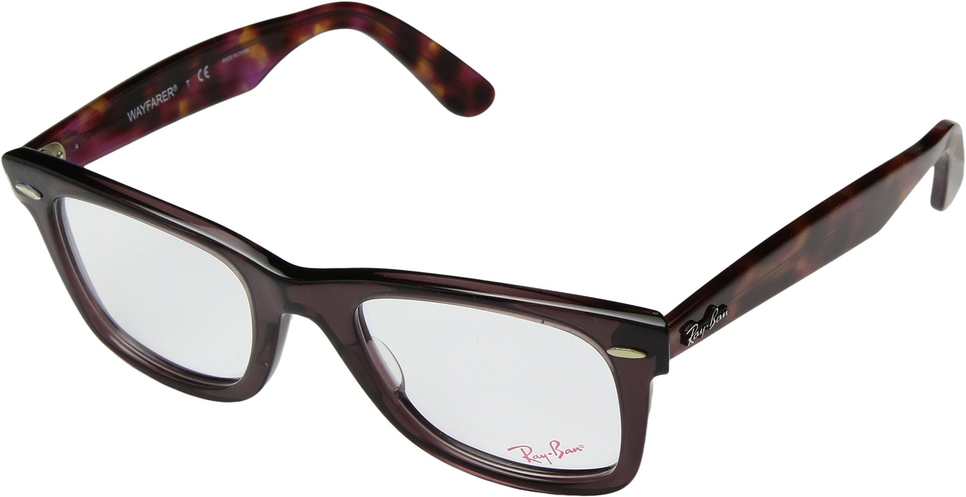 Ray-Ban RX5121 Wayfarer Eyeglasses Opal Brown 50mm