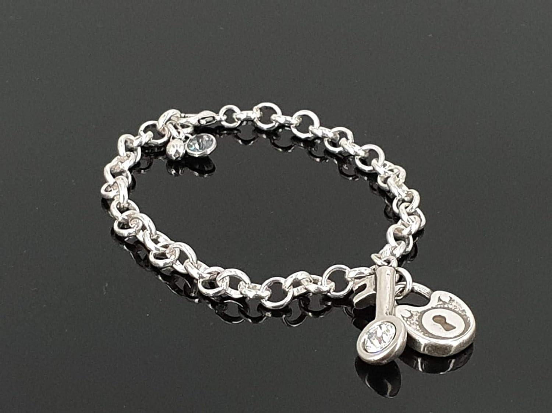 silver ball bracelet spanish jewelry zamak jewelry urban rustic jewelry Silver bracelet charms for women feather bracelet
