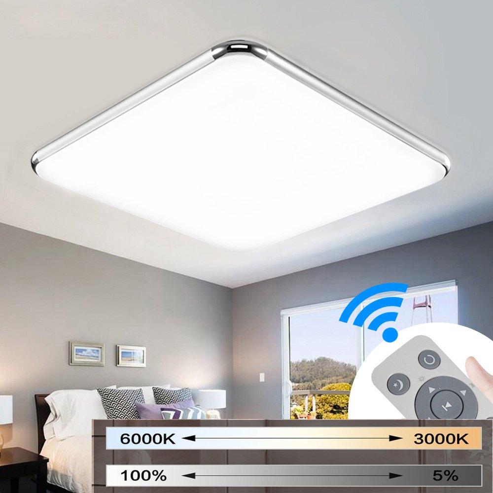 Clase energ/ética A+ MYHOO 72W Regulable LED luz de techo Moderna l/ámpara de techo Piso Sal/ón L/ámpara Dormitorio