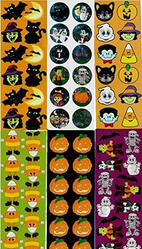 Cute Halloween Crafts For Kids (Halloween Sticker Assortment ~ 1200 Stickers per order ~ 4E's Novelty + Bonus 1 sticker sheet)