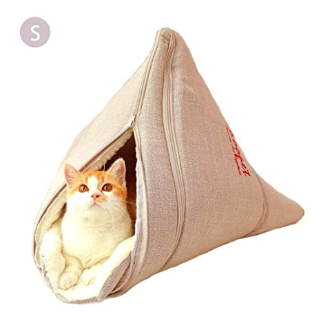 Jannyshop Portátil Suave Gato Nido Mascota Cama para Mascotas Gato y Perro Saco de Dormir Perro