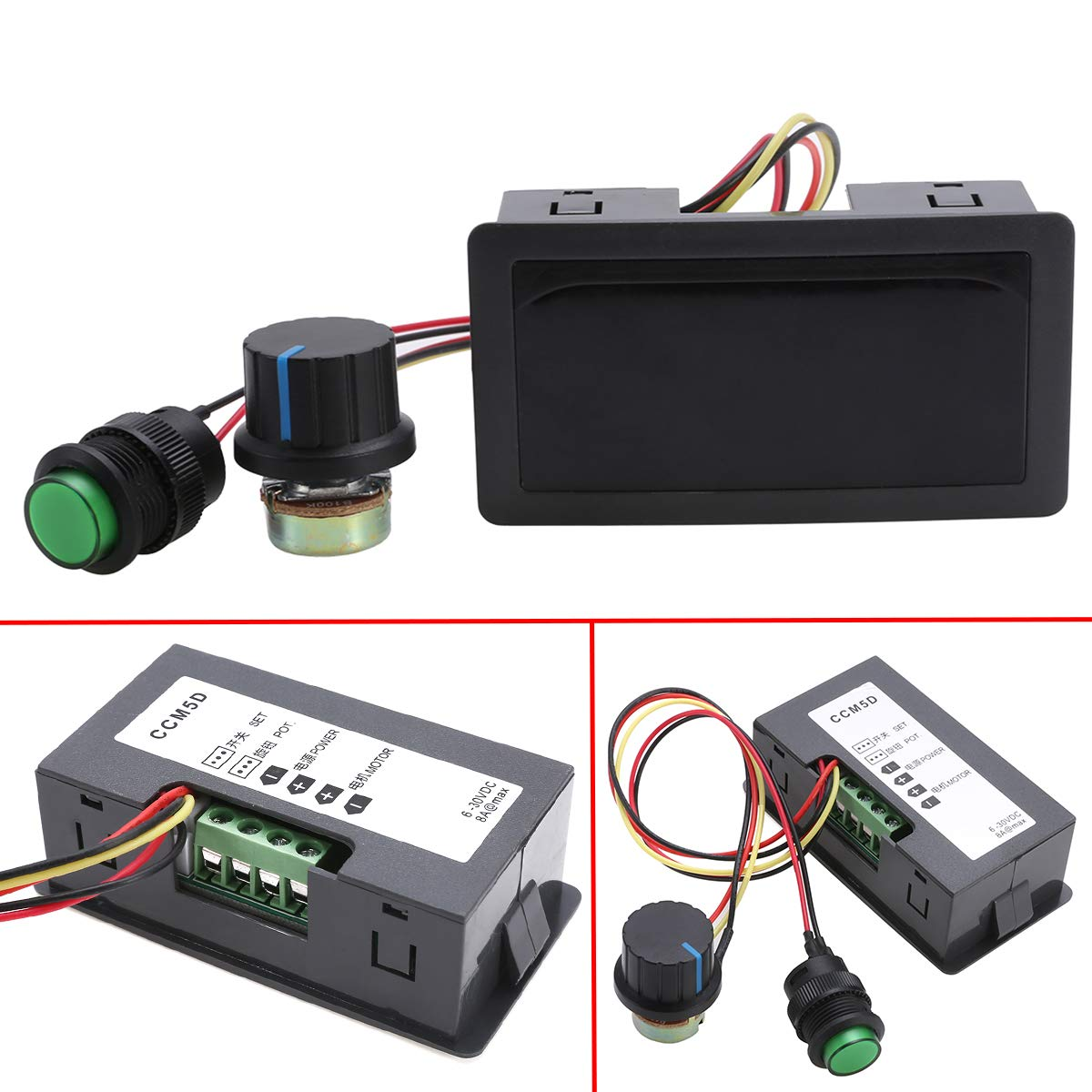 DC 6-30V 12V 24V Max 8A Motor PWM Speed Controller With LCD Display Switch